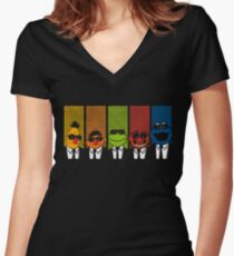 Reservoir Muppets V2 Women's Fitted V-Neck T-Shirt