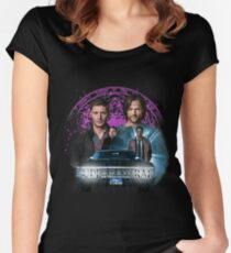 Supernatural The Roads Journey Women's Fitted Scoop T-Shirt