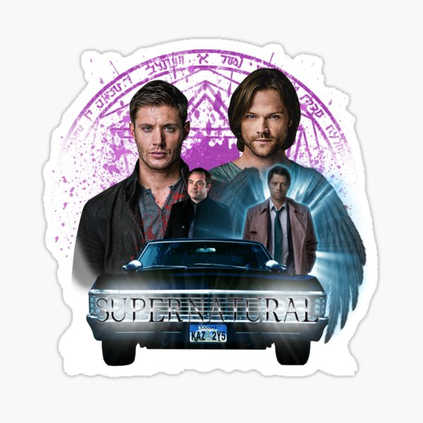 Supernatural The Roads Journey Sticker