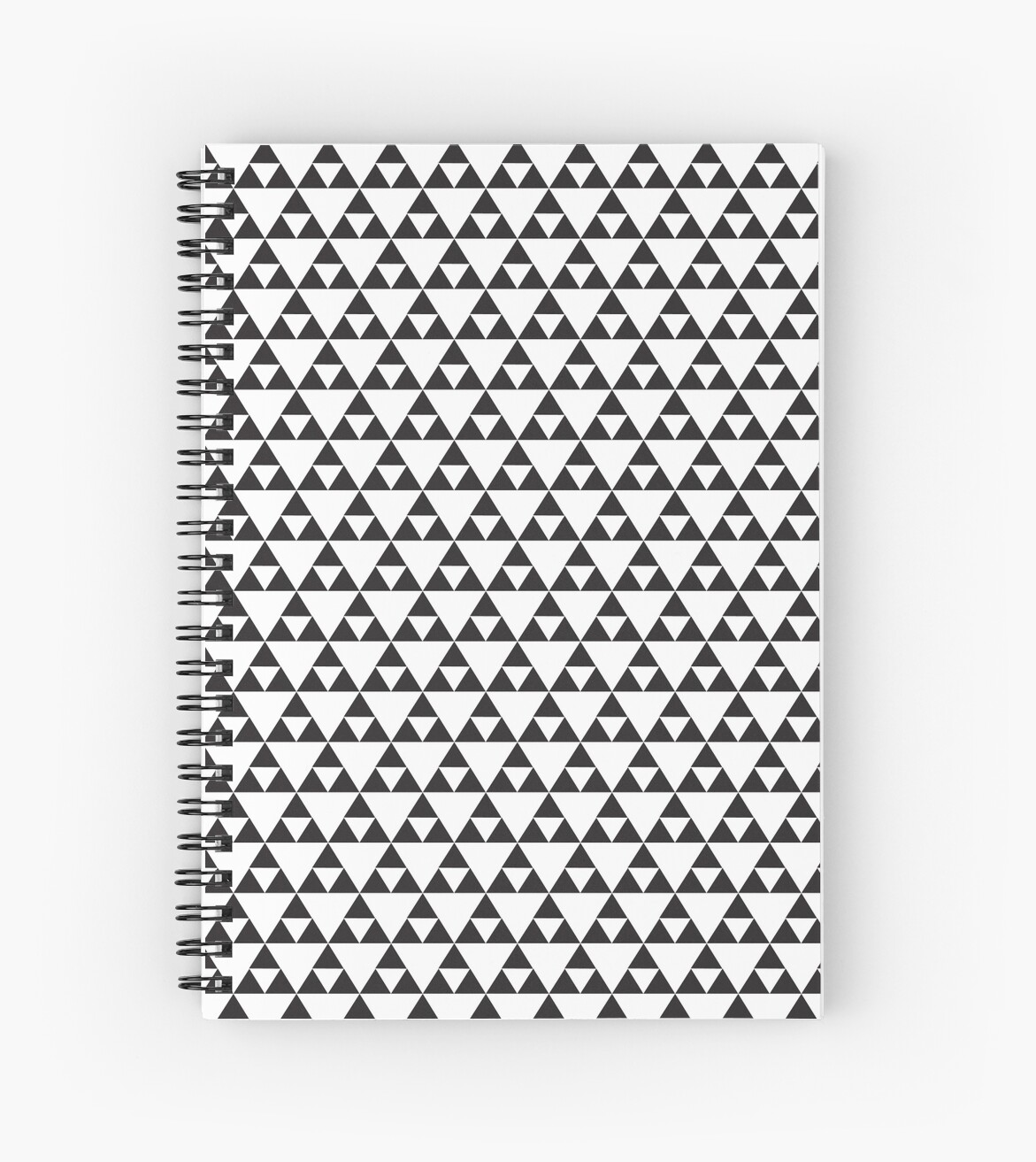 black and white triangle pattern by jennythip