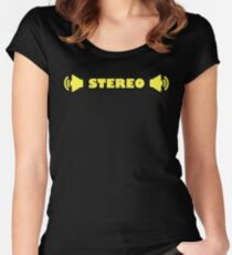 STEREO Women's Fitted Scoop T-Shirt
