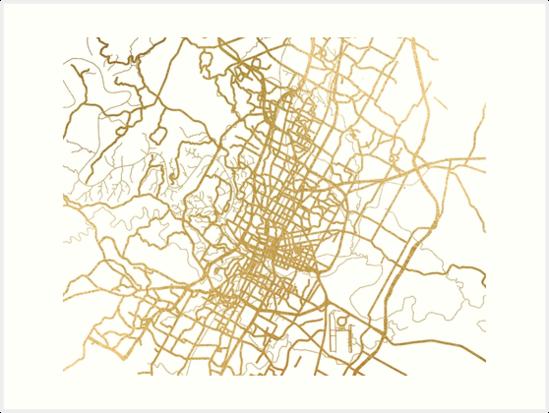 Gold Austin map by AnnaGo
