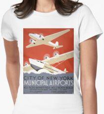Camiseta entallada para mujer TIR- Carteles vintage - Puerto de Nueva York - 3g04242u