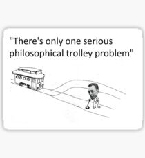 Camus' Trolley Problem Sticker