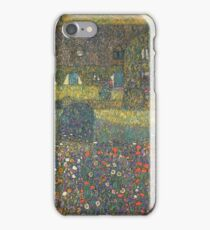 Gustav Klimt - Country House By The Attersee iPhone Case/Skin