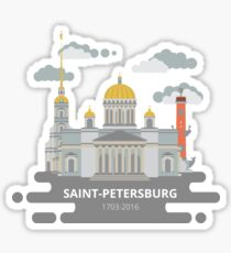 Saint-Petersburg flat cityscape. Sticker