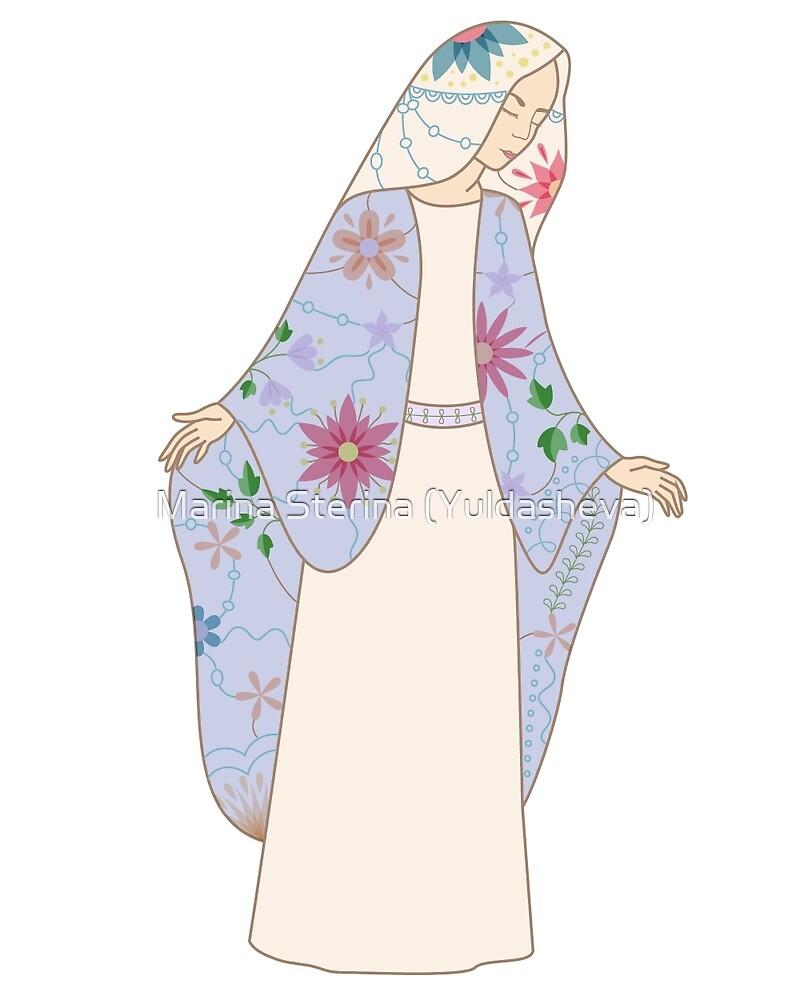 vintage virgin Mary by Marina Sterina