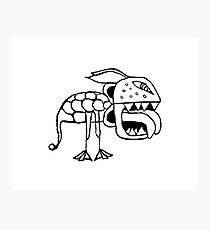 Exotic Primitive Monster Illustration Photographic Print