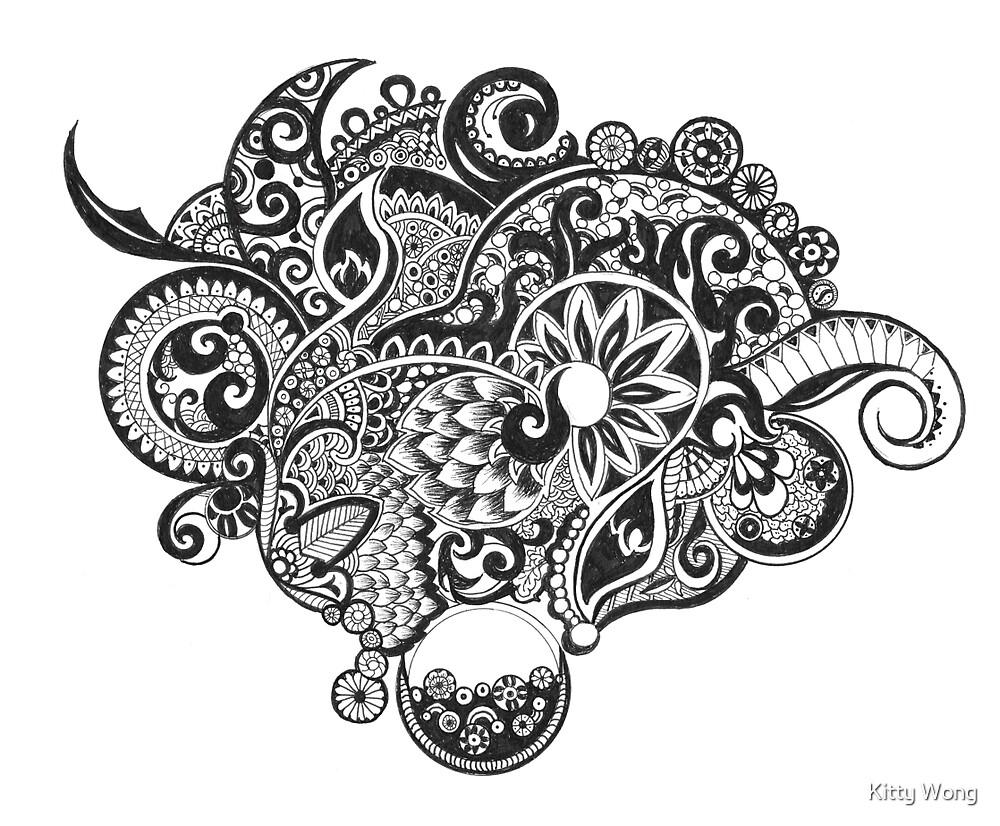 Dream zentangle by Kitty Wong