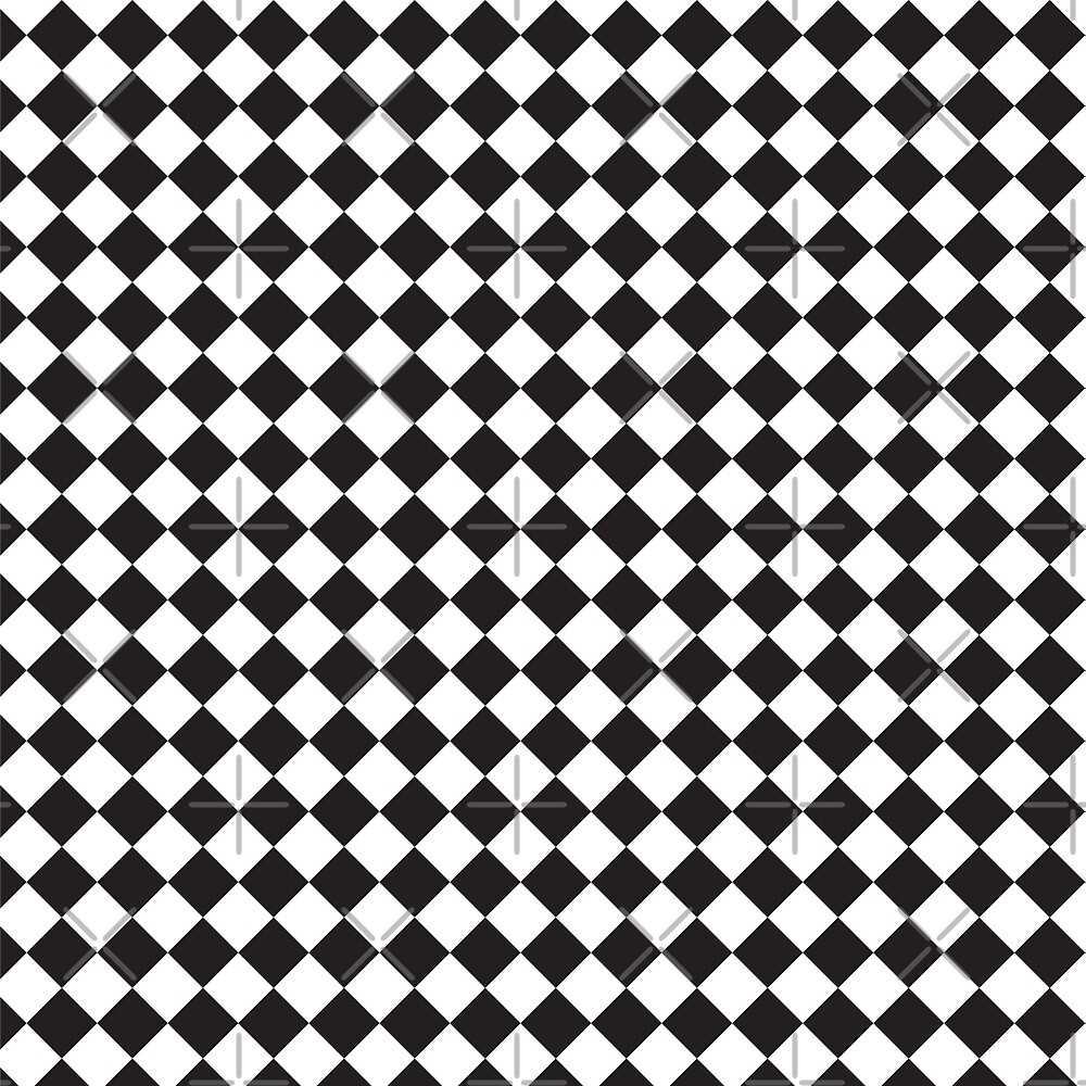 black and white square pattern by jennythip