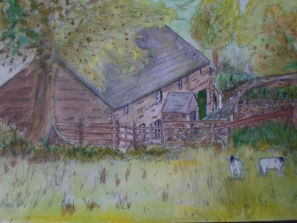 Edale Farmhouse by Beswickian
