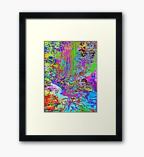 Psychedelic Forest Stream Framed Print