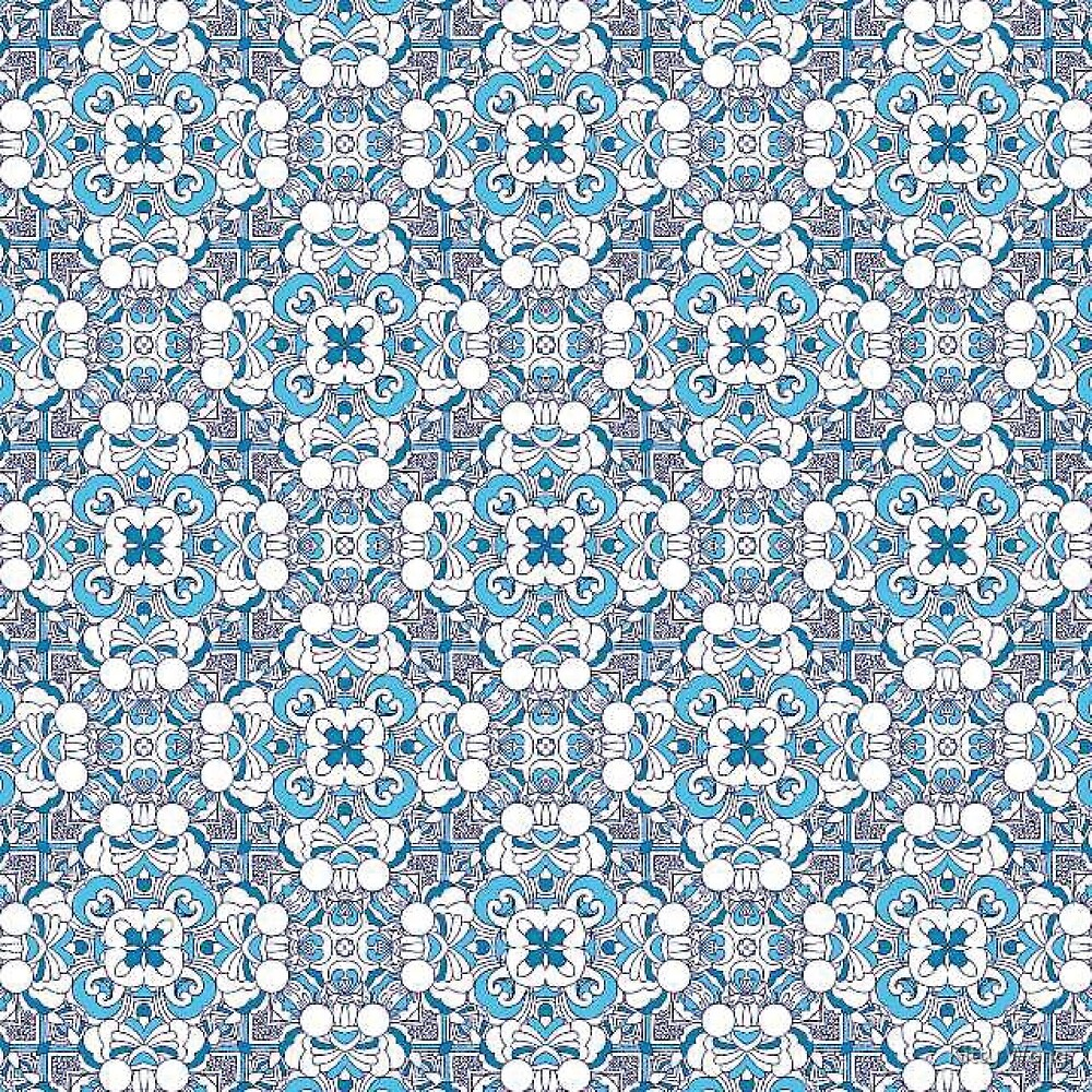 Colourful tile pattern by Kitty Wong