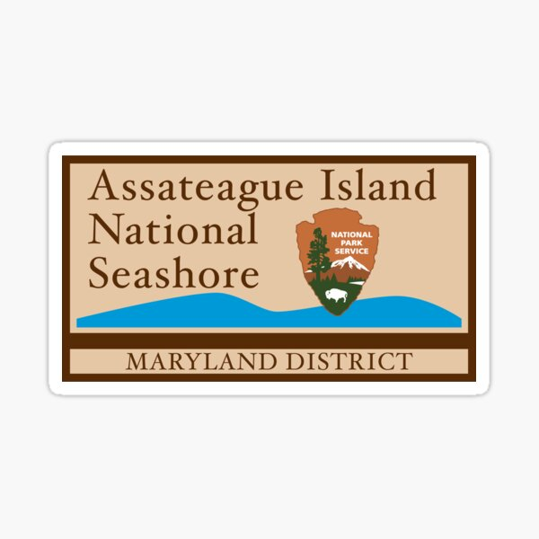 Assateague Island National Seashore sign Sticker