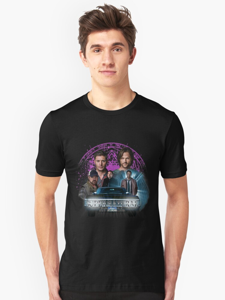 Supernatural Family dont end with Blood 2 Unisex T-Shirt Front