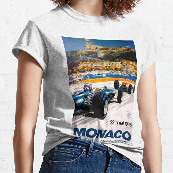 MONACO GRAND PRIX; Vintage 1966 Auto Racing Print Classic T-Shirt
