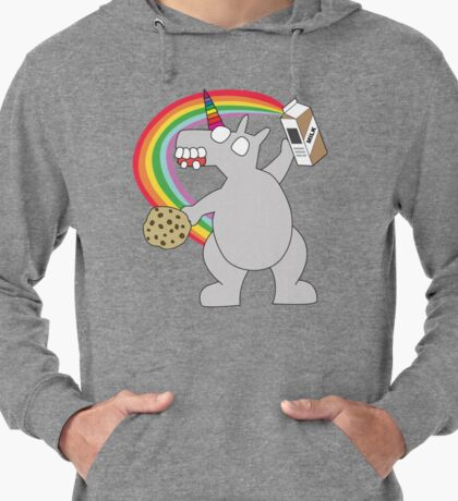 angry zombie unicorn has a snack Lightweight Hoodie