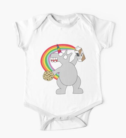 angry zombie unicorn has a snack Kids Clothes