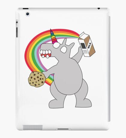 angry zombie unicorn has a snack iPad Case/Skin
