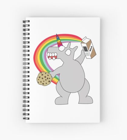angry zombie unicorn has a snack Spiral Notebook