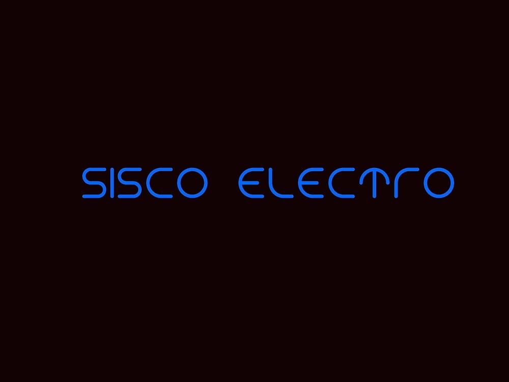 Sisco Electro Logo Blue On Black by siscoelectro