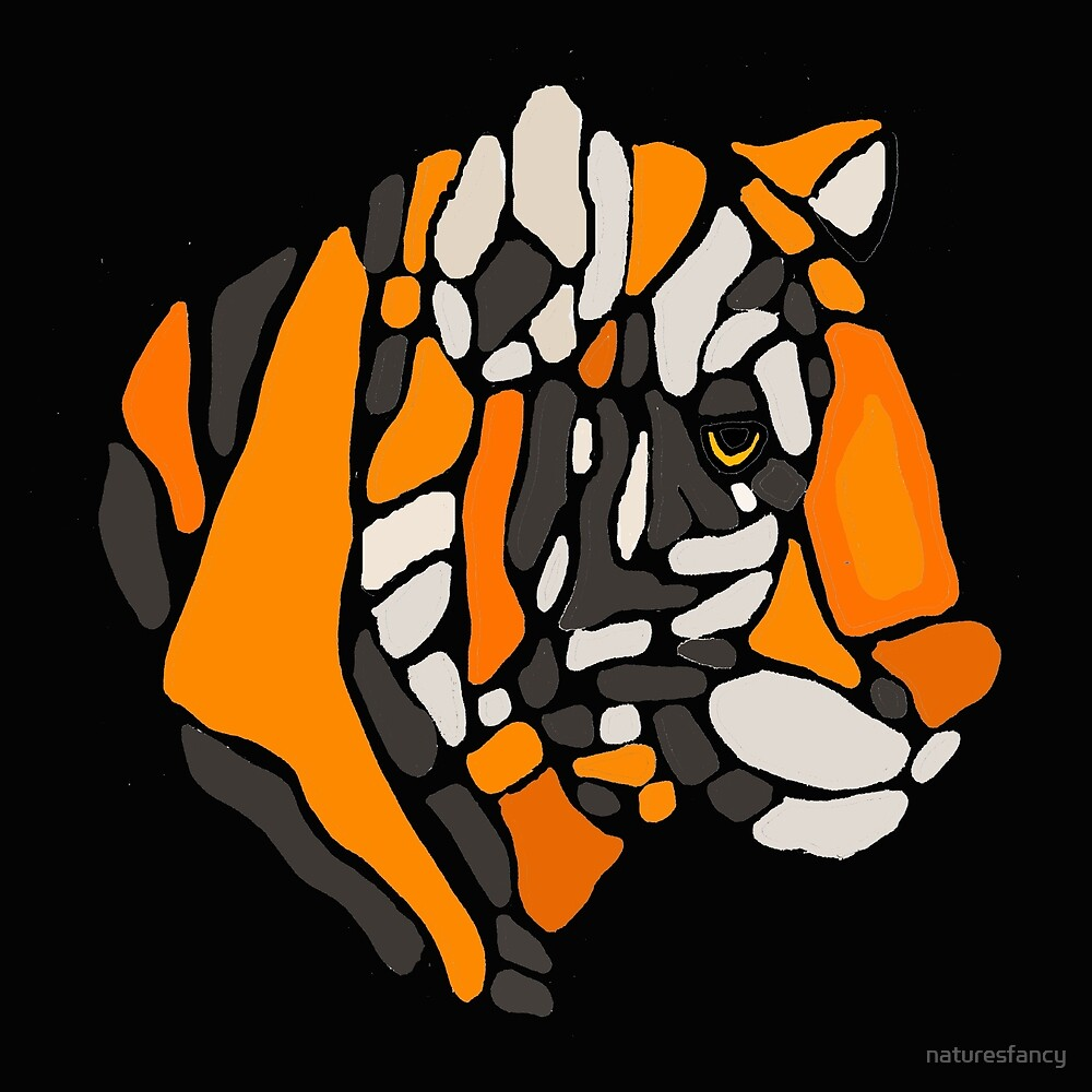 Artistic Cool Tiger Abstract Art By Naturesfancy