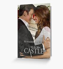 Caskett Wedding Greeting Card