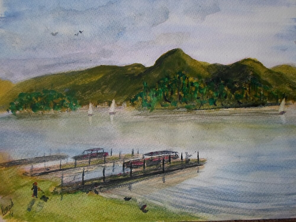 Cat Bells over Derwentwater by Beswickian