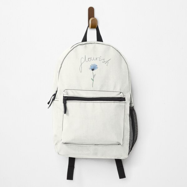 Flourish : Blue Watercolour Cornflower Backpack