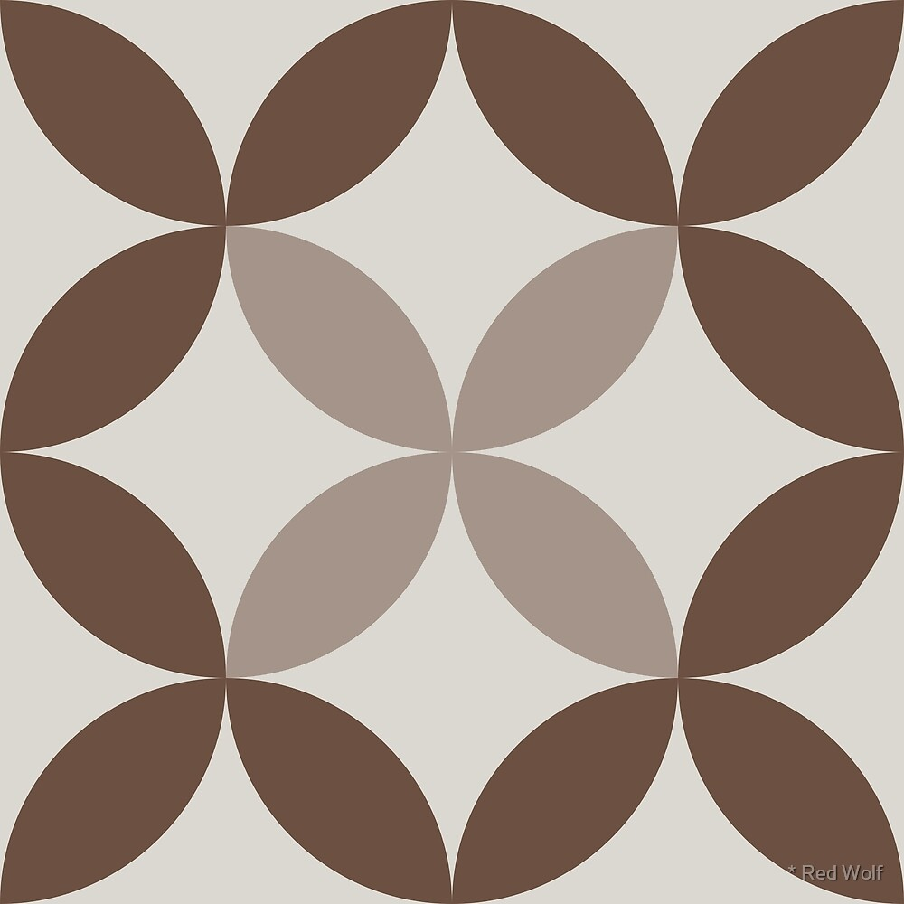 Geometric Pattern: Circle Nested: Brownstone by * Red Wolf