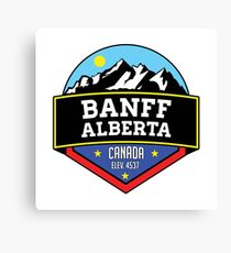 BANFF ALBERTA CANADA Skiing Ski Mountain Mountains Snowboard Boating Hiking 2 Canvas Print
