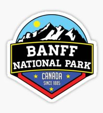 BANFF NATIONAL PARK ALBERTA CANADA Skiing Ski Mountain Mountains Snowboard Boating Hiking Sticker