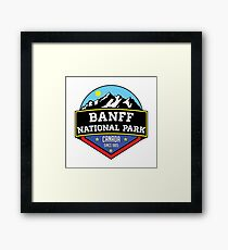 BANFF NATIONAL PARK ALBERTA CANADA Skiing Ski Mountain Mountains Snowboard Boating Hiking Framed Print