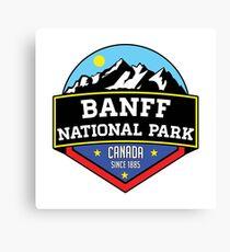 BANFF NATIONAL PARK ALBERTA CANADA Skiing Ski Mountain Mountains Snowboard Boating Hiking Canvas Print