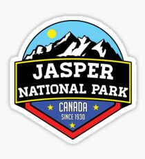 JASPER NATIONAL PARK ALBERTA CANADA Skiing Ski Mountain Mountains Snowboard Boating Hiking Sticker