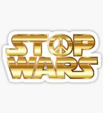 Star Wars Parody - Stop Wars  Sticker
