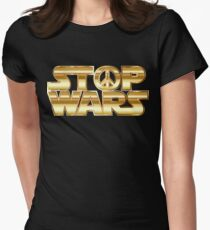 Star Wars Parody - Stop Wars  Women's Fitted T-Shirt