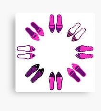 Collection of sexy female shoes Canvas Print
