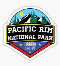 PACIFIC RIM NATIONAL PARK BRITISH COLUMBIA CANADA Skiing Ski Mountain Mountains Snowboard Boating Hiking Sticker