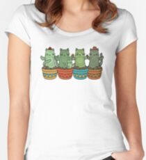 Catcus Garden Women's Fitted Scoop T-Shirt