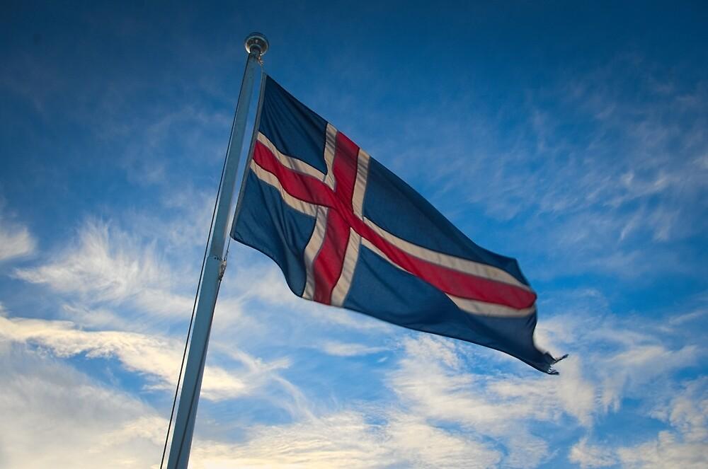 Icelandic flag by thomasnicodeme