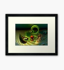 Mathematical meltdown Framed Print