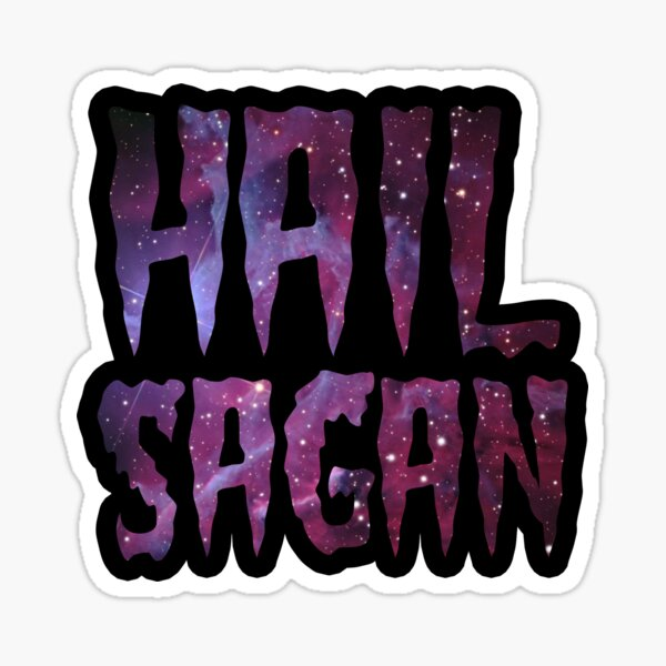 Hail Sagan GALAXY PURPLE Sticker