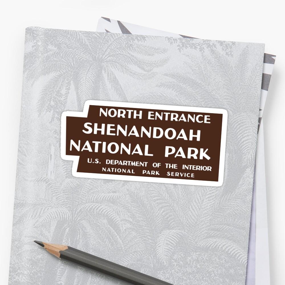 Shenandoah National Park sign by Nyle Buss