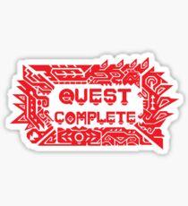 Monster Hunter Quest Complete Sticker