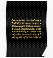 """The education i received... """"Nelson Mandela"""" Inspirational Quote Poster"""