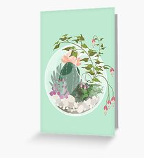 Round Terrarium Greeting Card