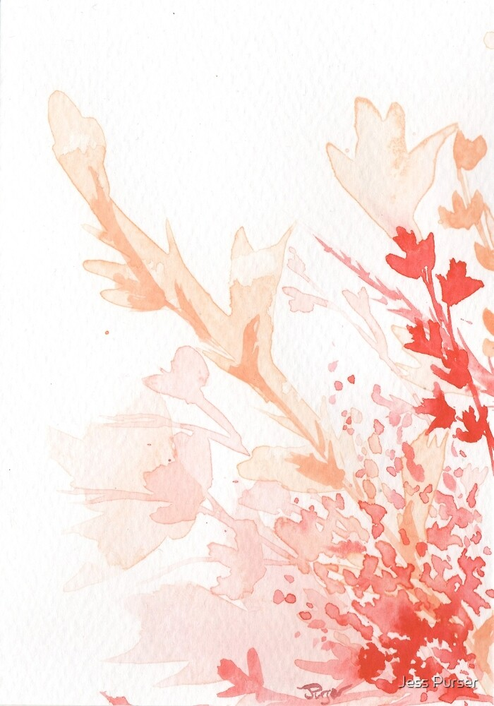 Floral Abstract #2 - Red wildflowers by Purrr