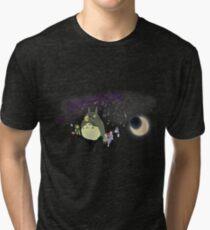 Totoro & Link ~ Ocarina Practise Tri-blend T-Shirt