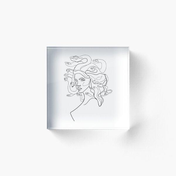 Medusa Line art Acrylic Block